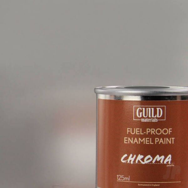 Guild Materials Silver Chroma Gloss Enamel Fuel-Proof Paint  (125ml Tin) GLDCHR6207